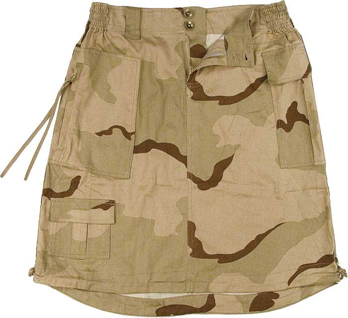 Tri-Color Desert Camouflage Women s Vintage Military Knee Length ... 33ada0b652c