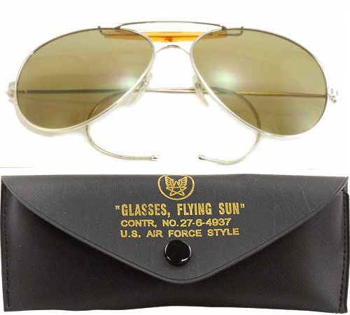 Brown Lenses US Air Force Style Aviators Sunglasses With Case 125b9056f388
