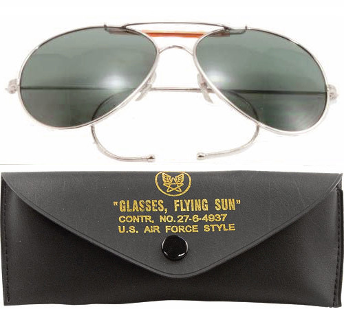 Smoke Lenses US Air Force Style Aviators Sunglasses With Case af8e16e5bf5