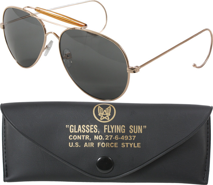 Smokey UV Acrylic Lenses With Gold Frame Air Force Style Aviator ... df446456e95