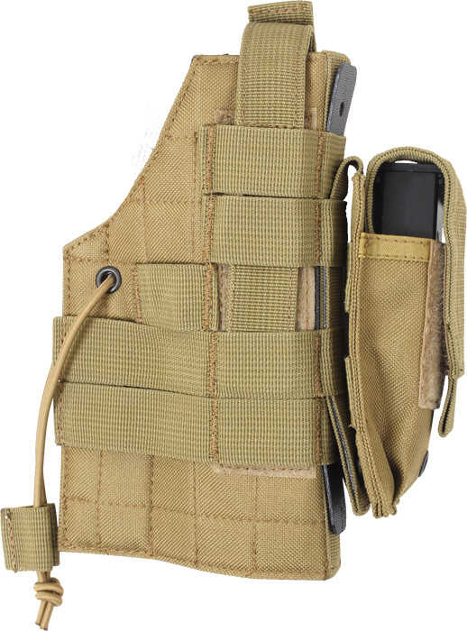 Coyote Brown Military MOLLE Tactical Ambidextrous Modular Gun Holster