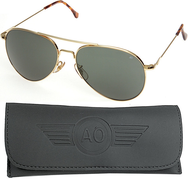 AO Eyewear Gold 58mm US Air Force Pilot Aviators Sunglasses with ... 71a57644f2b