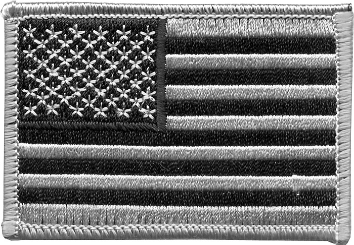 Black   Silver USA Military American Embroidered Flag Patch 8b36856a23d