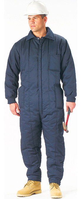 Navy Blue Cold Weather Insulated Coverall Jumpsuit 8a4fc4998256