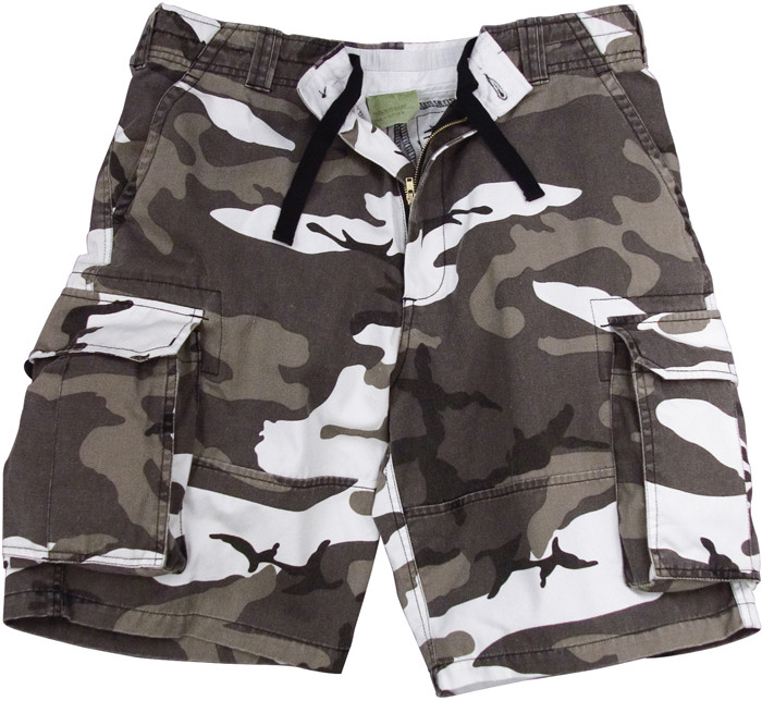 City Camouflage Vintage Military Paratrooper Cargo Shorts b3db6238e74