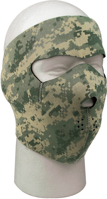 ACU Digital Camouflage   Black Reversible Stretch Full Face Mask 364487077a7