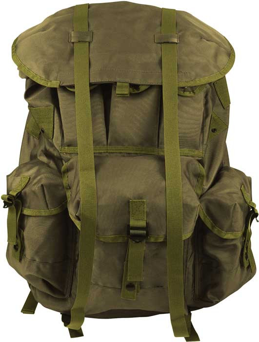 d722298d1595 Olive Drab Military Large Alice Pack Backpack   Metal Frame