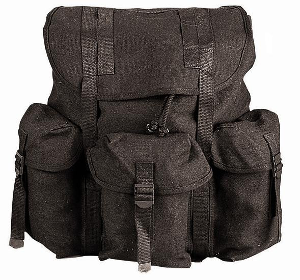 Black Military Heavy Weight Canvas Mini Alice Pack 9b95a446898