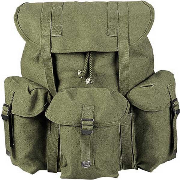 Olive Drab Military Heavy Weight Canvas Mini Alice Pack f92ba05c8e5