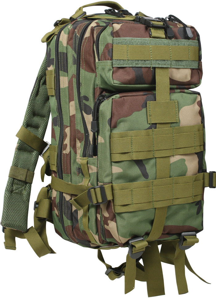 Woodland Camouflage Military MOLLE Medium Transport Assault ... 81c0b9a49ef