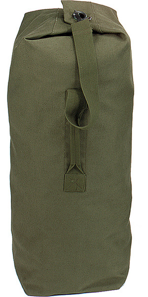 Olive Drab Top Load Heavyweight Canvas Duffle Bag 21