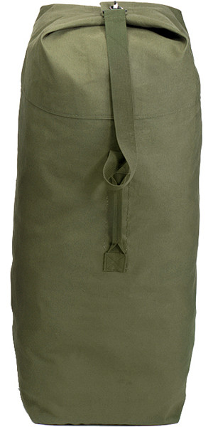Olive Drab Jumbo Top Load Heavyweight Canvas Duffle Bag 30