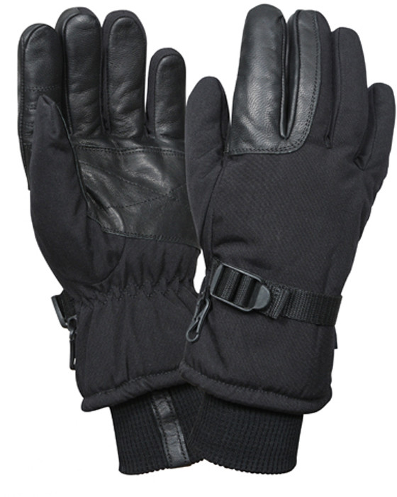 More Views. Black Cold Weather Insulated Long Cuff Military Gloves 715f48afcfad