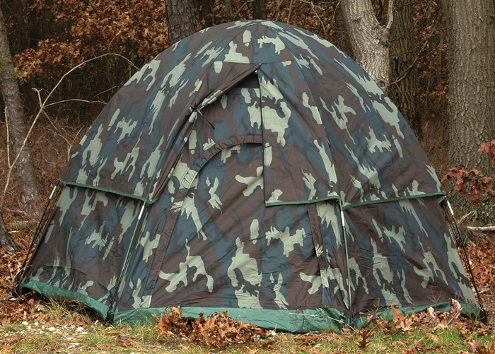 Woodland Camouflage 3 Man Hexagon Dome Tent aabea3c2c63