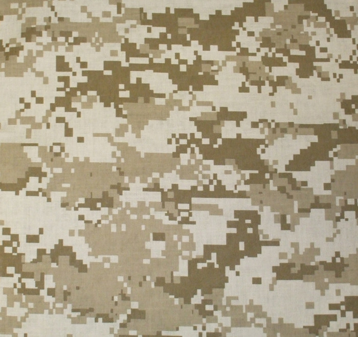 "Desert Digital Camouflage Military 22"" x 22"" Cotton Bandana"