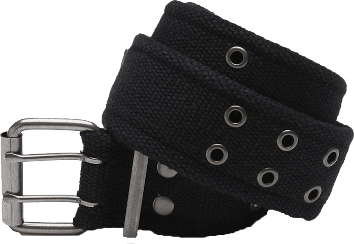 Black Military Pistol Belt with Double Prong Buckle 5b023d211f2