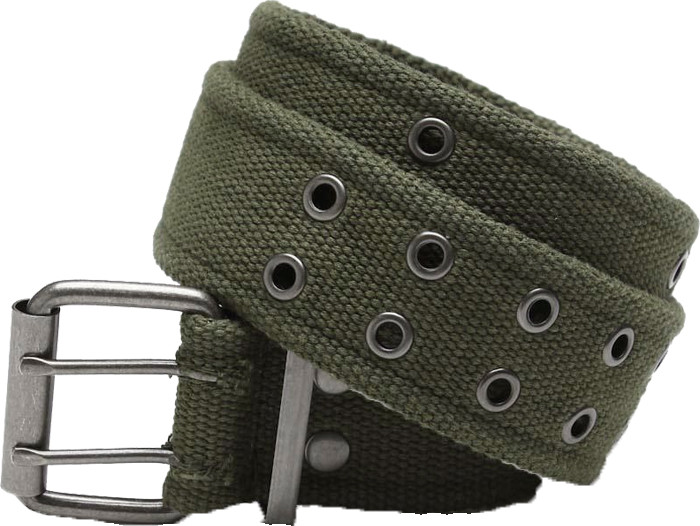 Olive Drab Vintage Military Pistol Belt With Double Prong Buckle dc1a89c88