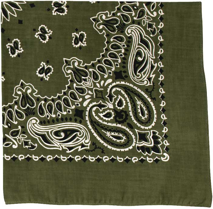 Olive Drab Trainmen Cotton Paisley Sport 27