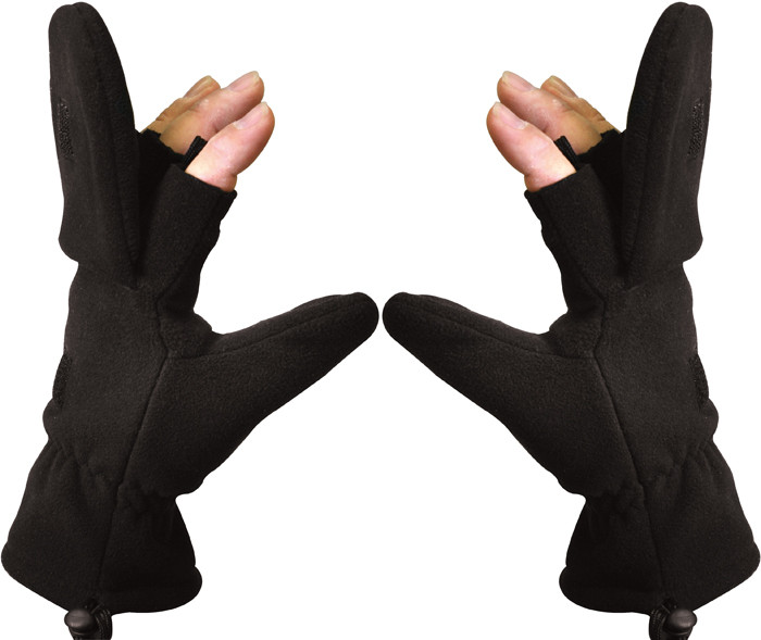 Black Fleece Sniper Fingerless Mitten Gloves 95dc62a474f