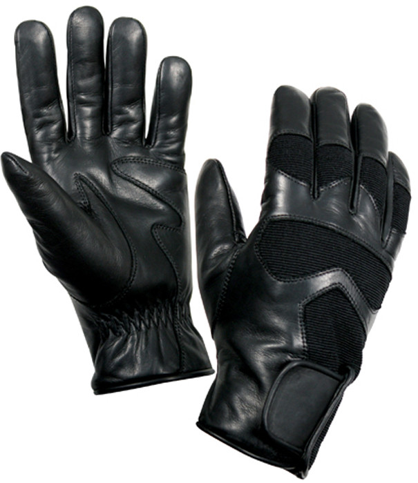 Black Cold Weather Leather Shooting Gloves 1811c9dc816