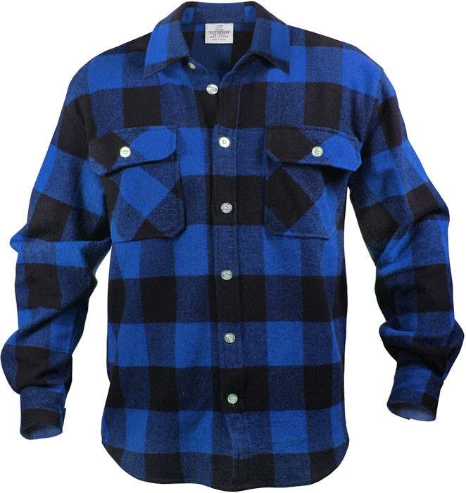 040151b2 More Views. Blue Extra Heavyweight Brawny Buffalo Plaid Flannel Shirt ...