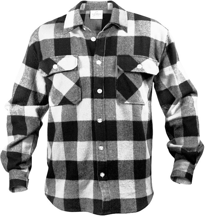 More Views. White Extra Heavyweight Brawny Buffalo Plaid Flannel Shirt ... b0e328a4969