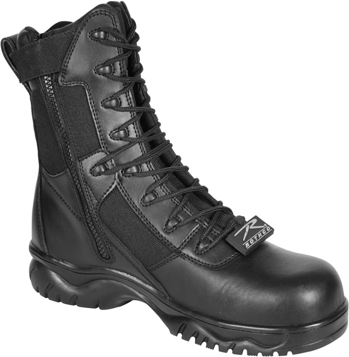 Black Forced Entry Side Zipper Composite Toe Military Tactical Boots 516b7ed9f4c