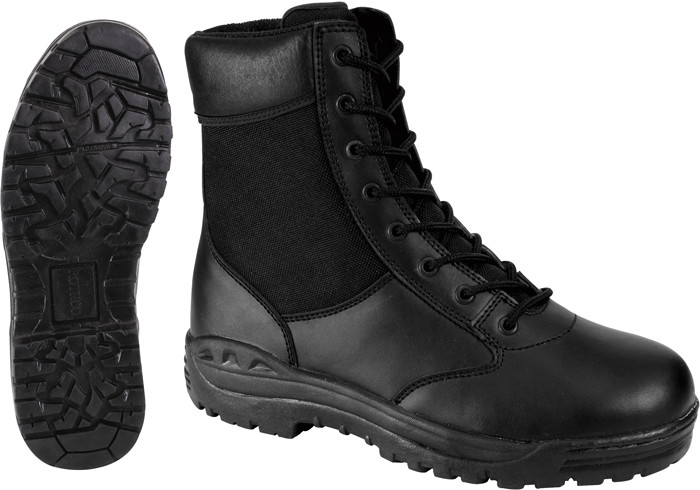 Black Forced Entry Leather Military Tactical Boots (8