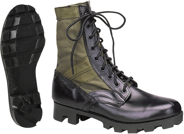 More Views. Olive Drab Leather Panama Sole Military Combat Jungle Boots 8d7bca6aa95