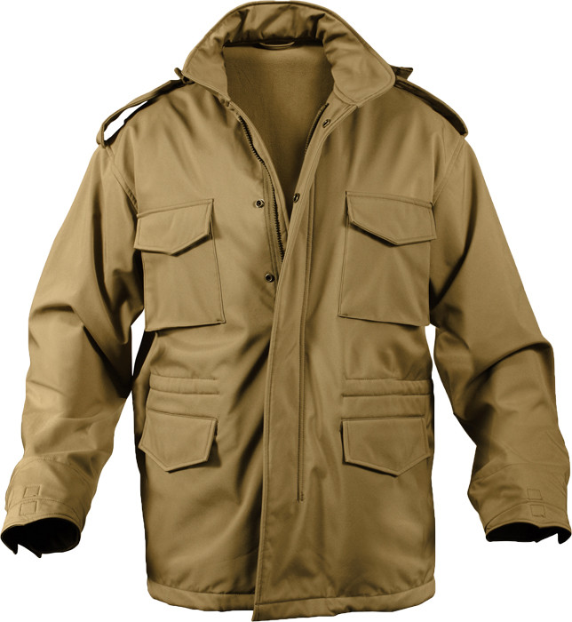 Coyote Brown Military Soft Shell Tactical M-65 Field Jacket 9df2f92fda0
