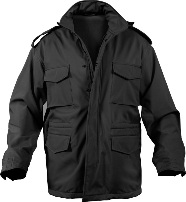 More Views. Black Military Soft Shell Tactical M-65 Field Jacket 668c944f691