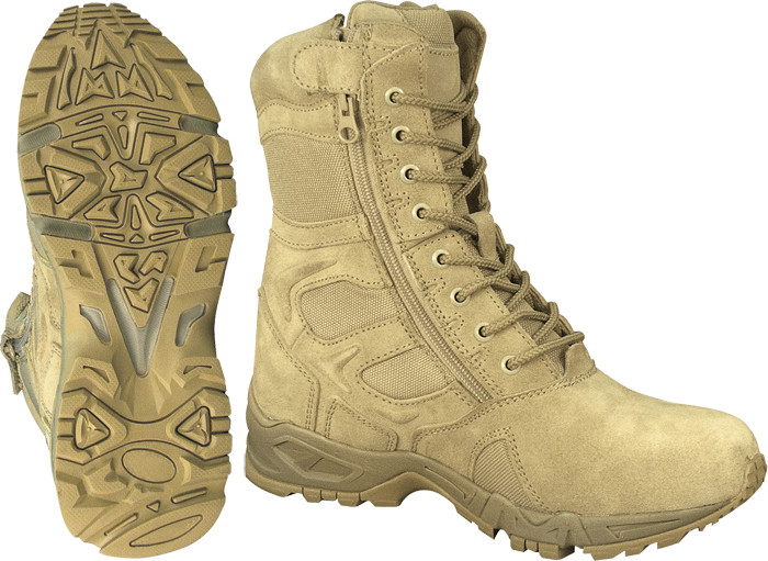 Tan Forced Entry Side Zipper Mountaineer Deployment Combat Boots fdcf32e7884