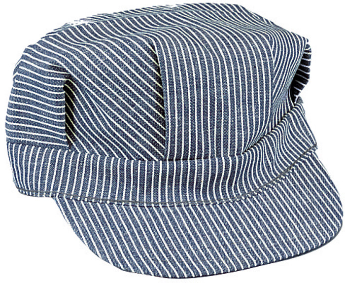 Blue   White Hickory Stripped Engineers Patrol Cap 2a4970feaf2