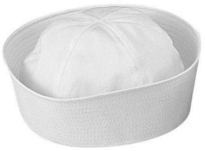 White Military US Navy USN Type Dixie Cup Cotton Sailor Hat 40bb3b35d64