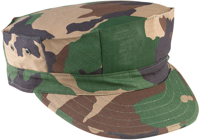 Woodland Camouflage Military Rip Stop Marine Corps 8 Point Utility Cap 10f6dc9f7c5