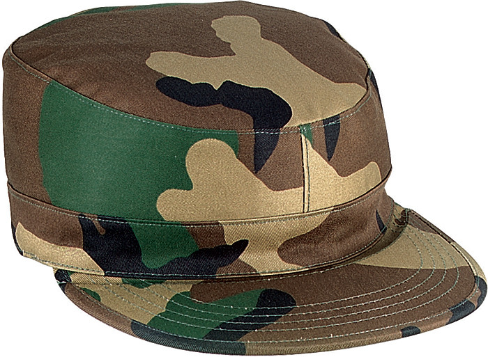 775e9423502 Woodland Camouflage Rip-Stop Map Pocket Patrol Ranger Fatigue Cap