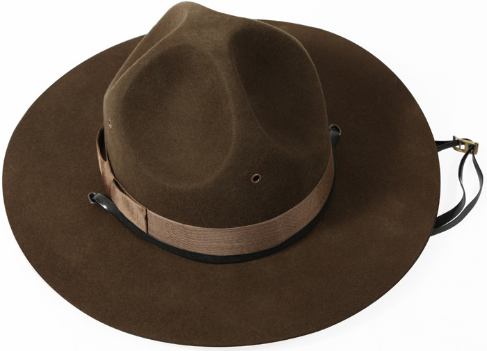 Trooper Brown Drill Sergeant Wool Felt Campaign Hat fd6c6037abc