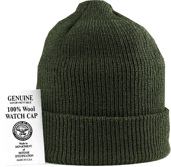 More Views. Olive Drab Military Winter Beanie Hat Wool Watch Cap USA Made e5fd9a14eb0