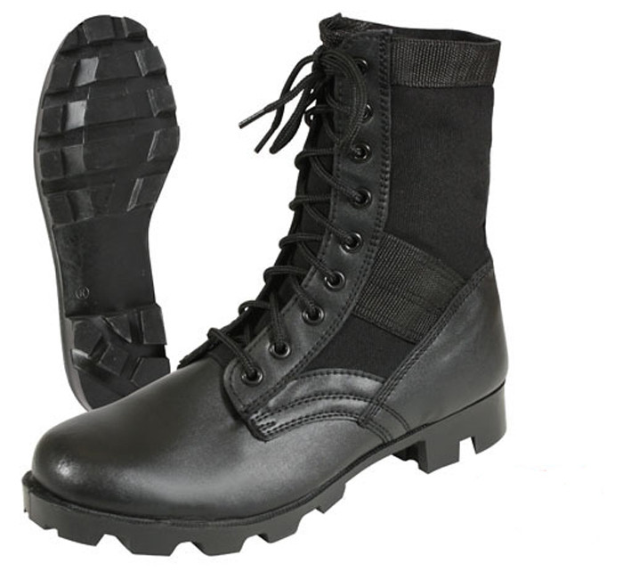 More Views. Black Leather Military Steel Toe Jungle Boots ad6a2756a