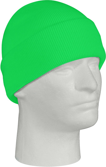Safety Green Knitted Winter Hat Acrylic Watch Cap 9aab7b626