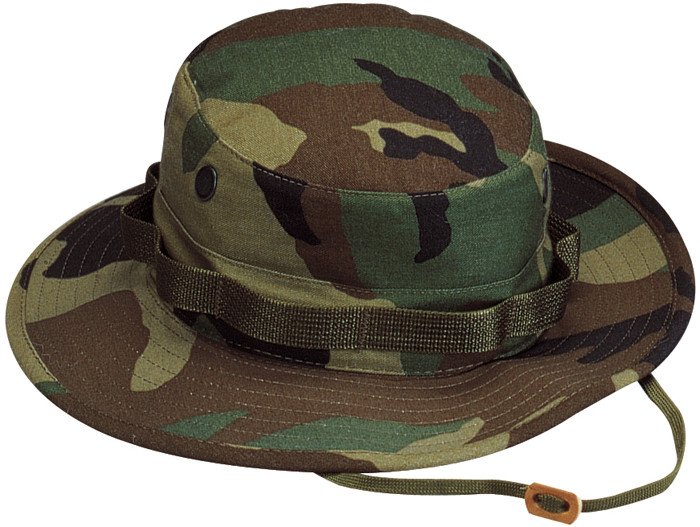 More Views. Woodland Camouflage Military Wide Brim Boonie Hat 5fbf1db29