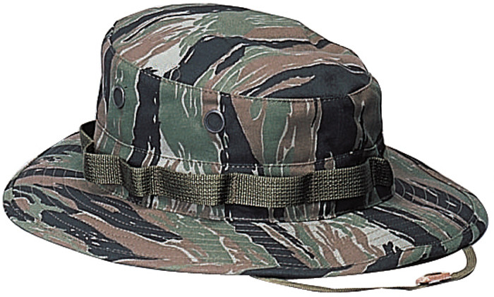 7f5462d341e14 More Views. Tiger Stripe Camouflage Military Wide Brim Boonie Hat
