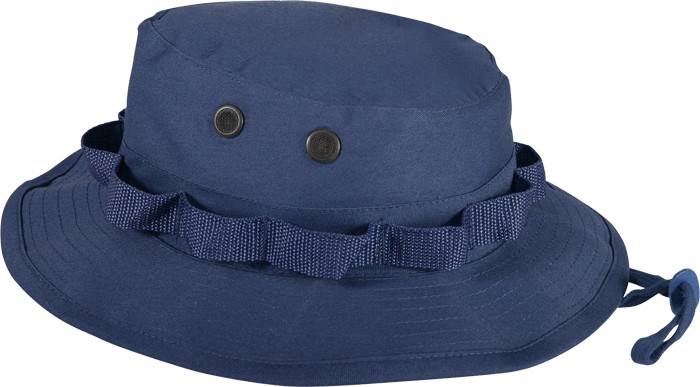 799ce524957 More Views. Navy Blue Military Wide Brim Boonie Hat