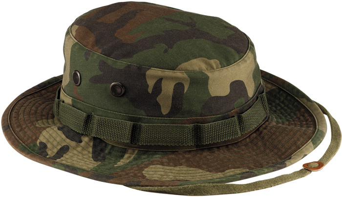 e90da8537aa More Views. Woodland Camouflage Vintage Military Tactical Wide Brim Boonie  Hat