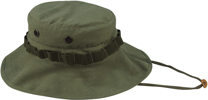 e7beecca06b More Views. Olive Drab Vintage Vietnam Military Rip-Stop Wide Brim Boonie  Hat