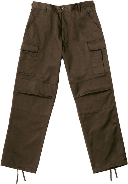 Brown Military BDU Cargo Rip-Stop Fatigue Pants 4b453843145