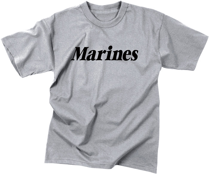 Grey Military Marines Short Sleeve T-Shirt 5c08791008b
