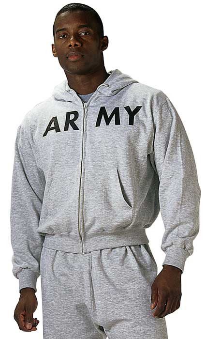 More Views. Grey ARMY Physical Training Zipper Sweatshirt 78a2b6ffcfe