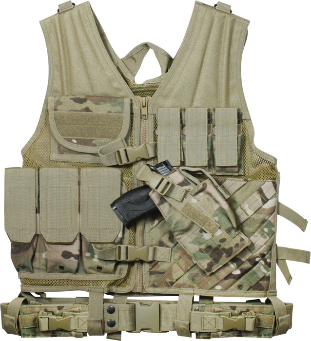 Multi Cam Military Tactical Cross Draw Vest c95bfbe642f