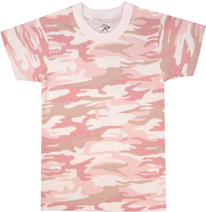 Baby Pink Camouflage Kids Military Tactical T-Shirt bbfc2addc7b